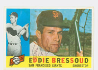 Eddie Bressoud AUTOGRAPH 1960 Topps #253 Giants CARD IS G/VG; SPLOTCHES