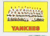 1967 Topps Baseball 131 Yankees Team Fair to Poor