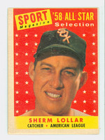 1958 Topps Baseball 491 Sherm Lollar AS Chicago White Sox Very Good to Excellent
