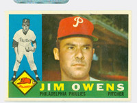 1960 Topps Baseball 185 Jim Owens Philadelphia Phillies Excellent