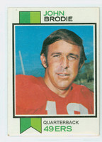 1973 Topps Football 45 John Brodie San Francisco 49ers Very Good to Excellent