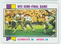 1973 Topps Football 133 Nfc Semi-final Excellent to Mint