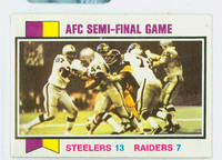 1973 Topps Football 134 Afc Semi-final