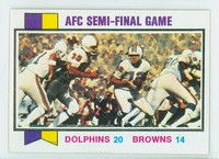 1973 Topps Football 136 Afc Semi-final Near-Mint
