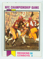 1973 Topps Football 137 Nfc Championship Very Good to Excellent