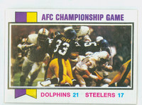 1973 Topps Football 138 Afc Championship Near-Mint