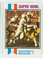 1973 Topps Football 139 Super Bowl game Excellent