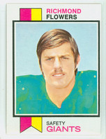 1973 Topps Football 166 Richmond Flowers New York Giants Excellent