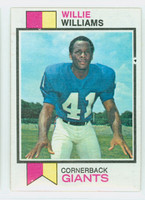 1973 Topps Football 231 Willie Williams New York Giants Excellent
