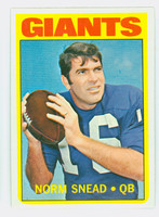 1972 Topps Football 118 Norm Snead New York Giants Near-Mint Plus