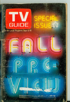 1970 TV Guide September 12 Fall Preview Eastern Illinois edition Very Good  [Small tape pieces on binding; heavy creasing, label removed]