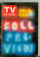 1970 TV Guide September 12 Fall Preview Southern Ohio edition Very Good to Excellent - No Mailing Label  [Wear and scuffing on cover; contents fine]