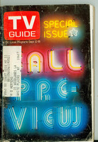 1970 TV Guide September 12 Fall Preview NY Metro edition Very Good  [Loose at the staples, heavy scuffing; contents fine]