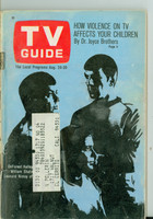 1968 TV Guide Aug 24 Cast of Star Trek Northern California edition Good to Very Good  [Very loose at staples, wear on cover; contents fine]