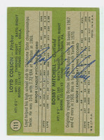 Bobby Mitchell AUTOGRAPH 1971 Topps #111 Yankees Rookies BACK SIGNED 