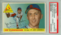Joe Cunningham AUTOGRAPH 1955 Topps #37 Cardinals PSA/DNA CARD IS VG; AUTO CLEAN