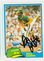 Mike Norris AUTOGRAPH 1981 Topps #55 Athletics 