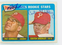 Corrales-Shockley DUAL SIGNED 1965 Topps #107 Phillies Rookies CARD IS CLEAN EX