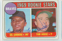 Garrido-House DUAL SIGNED 1969 Topps #331 Braves Rookies CARD IS CLEAN EX