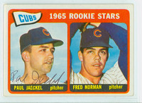 Paul Jaeckel AUTOGRAPH 1965 Topps #386 Cubs Rookies CARD IS CLEAN VG