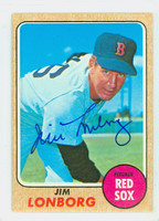 Jim Lonborg AUTOGRAPH 1968 Topps #460 Red Sox CARD IS CLEAN VG/EX