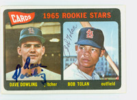 Tolan-Dowling DUAL SIGNED 1965 Topps Cardinals Rookies CARD IS CLEAN VG/EX