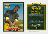 Willie Stargell AUTOGRAPH d.01 Canadian Club Pirates CERTIFIED 