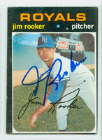 Jim Rooker AUTOGRAPH 1971 Topps #730 Royals High Number 