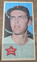 1968 Topps Posters 1 Dean Chance Minnesota Twins Very Good