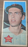 1968 Topps Posters 1 Dean Chance Minnesota Twins Very Good to Excellent