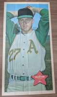 1968 Topps Posters 5 Jim Hunter Oakland Athletics Near-Mint
