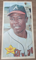 1968 Topps Posters 14 Hank Aaron Atlanta Braves Near-Mint