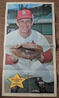 1968 Topps Posters 19 Tim McCarver St. Louis Cardinals Excellent