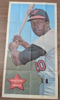 1968 Topps Posters 24 Frank Robinson Baltimore Orioles Very Good to Excellent