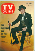1960 TV Guide May 21 Gene Barry as Bat Masterson Oregon State edition Very Good to Excellent - No Mailing Label  [Wear and scuffing on cover, contents fine]