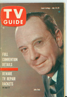 1960 TV Guide Jul 23 John Daly Oregon State edition Very Good - No Mailing Label  [Wear and scuffing on cover, WRT in pencil in logo, contents fine]