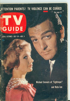 1960 TV Guide Jul 30 Mike Connors of Tightrope Oregon State edition Very Good to Excellent - No Mailing Label  [Wear and scuffing on cover, contents fine]