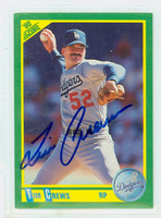 Tim Crews AUTOGRAPH d.93 1990 Score Dodgers 