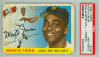 Monte Irvin AUTOGRAPH d.16 1955 Topps #100 Giants PSA/DNA CARD IS F/P