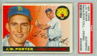 JW Porter AUTOGRAPH 1955 Topps #49 Tigers PSA/DNA SIG IN RED PEN