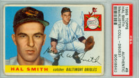 Hal W. Smith AUTOGRAPH d.20 1955 Topps #8 Orioles PSA/DNA CARD IS F/G; AUTO CLEAN