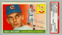 Bill Wilson AUTOGRAPH 1955 Topps #86 Cubs PSA/DNA CARD IS G/VG; OC