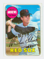 Mike Andrews AUTOGRAPH 1969 Topps #52 Red Sox 