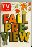 1978 TV Guide Sep 9 Fall Preview Iowa edition Excellent - No Mailing Label  [Lt scuffing and toning on cover, ow clean]
