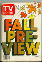 1978 TV Guide Sep 9 Fall Preview Central California edition Very Good to Excellent - No Mailing Label  [Heavy crimp along binding, ow clean, contents fine]