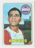 Vic Davalillo AUTOGRAPH 1969 Topps #275 Angels CARD IS G/VG; SL CREASING, AUTO CLEAN