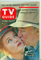 1960 TV Guide Jan 23 Walter Brennan and Kathy Nolan of The Real McCoys Pittsburgh edition Excellent - No Mailing Label  [Very lt wear, stray writing in pencil on cover, contents fine]