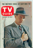 1960 TV Guide Feb 27 Robert Stack of The Untouchables (First Cover) Pittsburgh edition Very Good to Excellent - No Mailing Label  [Very minor paper loss on cover, ow very clean]