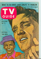 1960 TV Guide May 7 Elvis Presley and Frank Sinatra Philadelphia edition Excellent to Mint - No Mailing Label  [Very lt wear on cover, ow very clean]