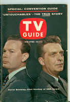 1960 TV Guide Jul 9 Huntley and Brinkley Central Indiana edition Very Good to Excellent - No Mailing Label  [Lt scuffing along binding, lt creasing on cover, contents fine]